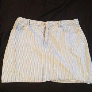 Blue/White striped skirt